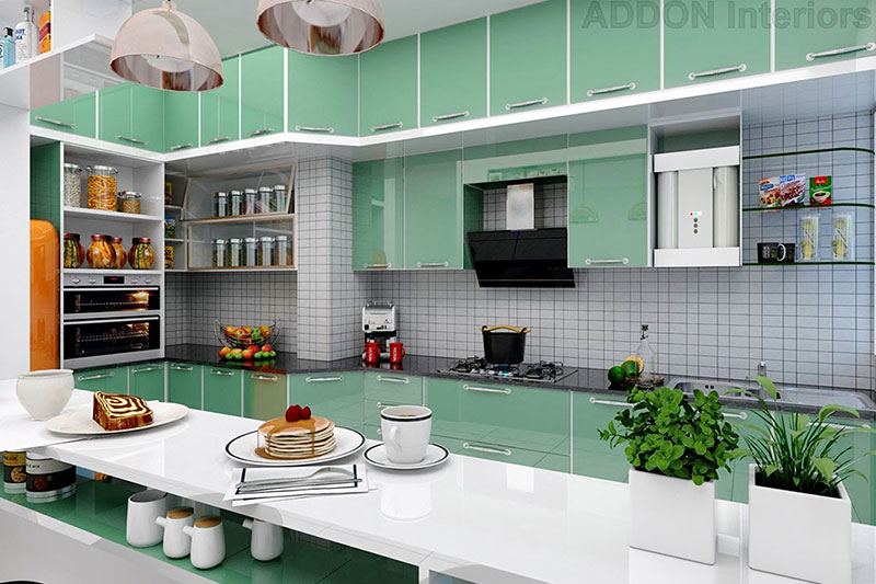 T Shaped Kitchen Design