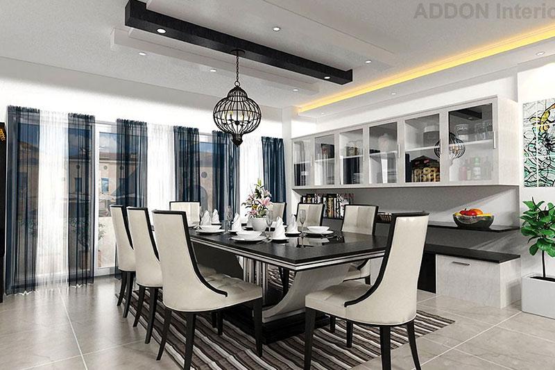 Living Room Interiors in Bangalore   Dining Room Design   Living ...
